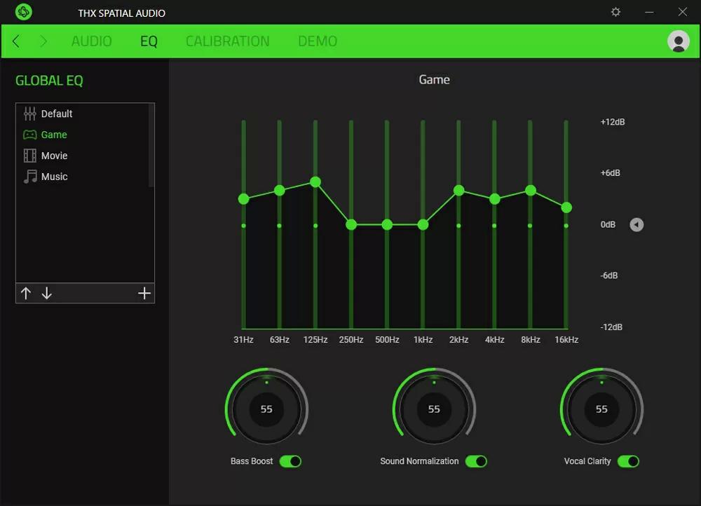 Утилита Razer THX Spatial Audio