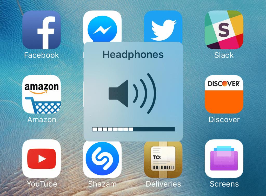 звука в iOS айфон