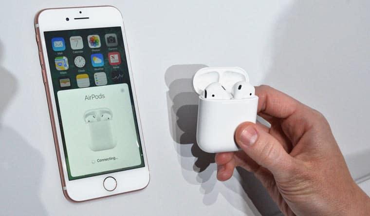 сопряжение Apple AirPods