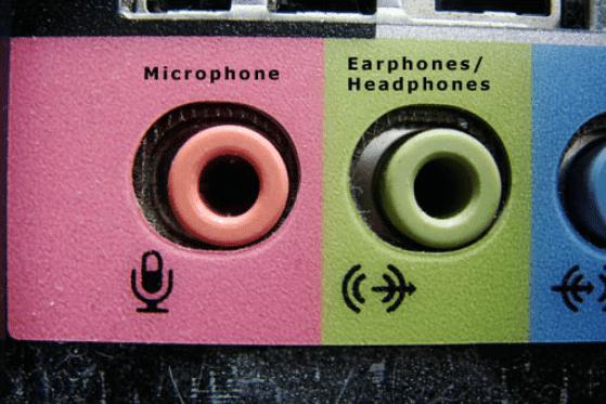 гнезда подключения микрофона